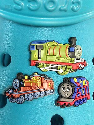 3 Thomas The Tank, James & Percy Shoe Charms For Crocs & Jibbitz Wristbands.