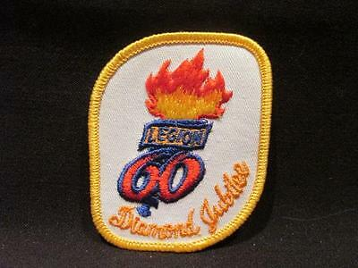 Royal Canadian Legion 60th Anniversary Diamond Jubilee Embroidered Patch