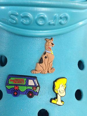Scooby Doo, Shaggy & Mystery Machine Shoe Charms For Crocs & Jibbitz Wristbands