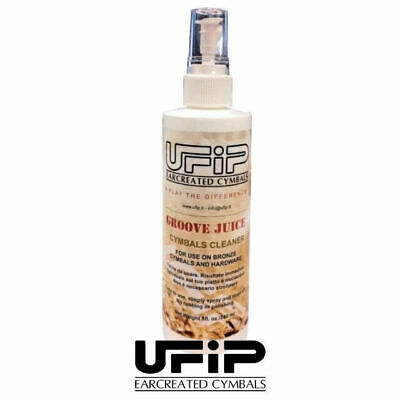 Ufip Groove Juice Cymbal Cleaner Spray and Drum Hardware Clean