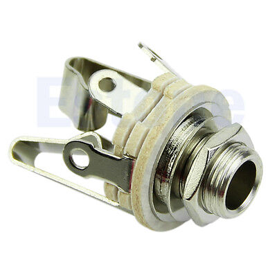 """Useful Stereo Output 1/4"""" 6.35mm Jacks Socket For Electric Guitar Switch Repairs"""