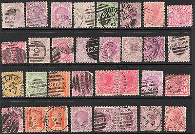 VIC Victoria Australia State Used Lot x 32 Stamps