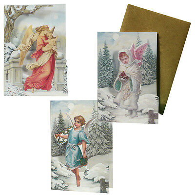 75 Angel Petite Gift Cards in Snow and Christmas Setting XG0035