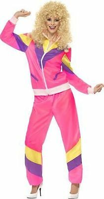 Fancy Dress Ladies 80's Pink Shellsuit Height Of Fashion Fancy Dress Sizes 8-16
