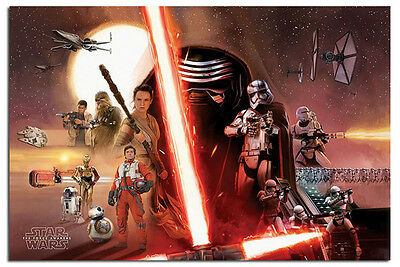 Star Wars Episode 7 The Force Awakens Galaxy Poster New - Maxi Size 36 x 24 Inch