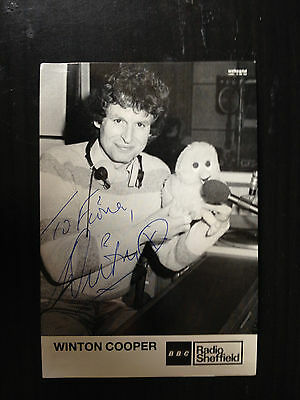 Winton Cooper - Murdered Former Bbc Presenter - Excellent Signed Photograph