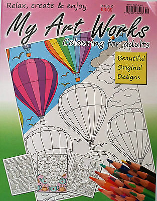 My Art Works __ Brand New  Colouring Book For Adults __ Issue 2 __ Brand New