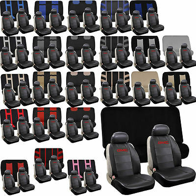 Synthetic Leather Sideless Bench Seat Covers Universal Car Truck Suv Set for GMC