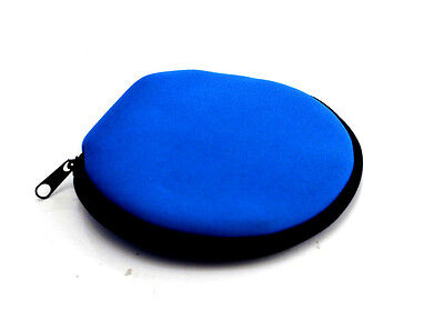 (Lot of 3 Holders) Disc Storage Bag Carry Wallet CD DVD BLUE- 12 Sleeves/Case