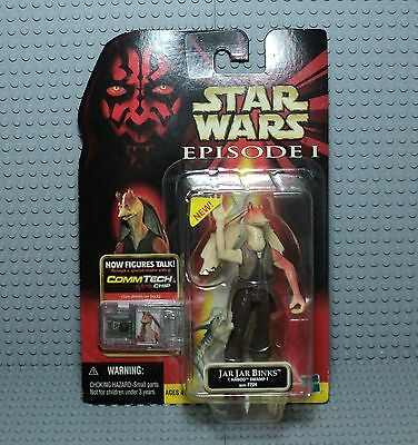 STAR WARS JAR JAR BINKS naboo swamp with fish 1999 COMMTECH NEUF hasbro