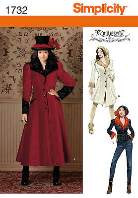 Simplicity Arkivestry Misses Sewing Pattern 1732 Victorian Costume Coat