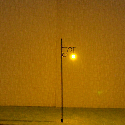 10 pcs O Scale Model Lamp post warm white LED Made Street Light cold Lamp #R34W