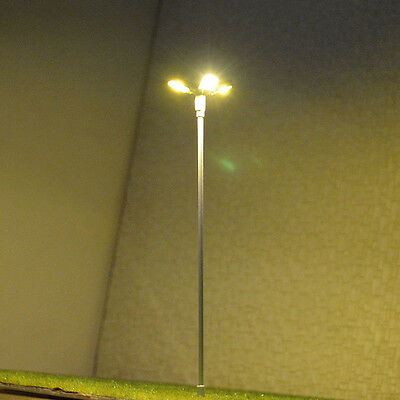 6 pcs HO/OO scale Model Floodlight warm white LED made Lamppost long life #014
