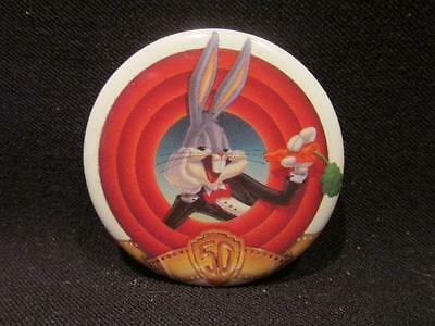 """Warner Brothers 1989 Bugs Bunny 50th Anniversary 1 1/4"""" Pinback Button"""