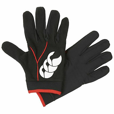 Canterbury Adult Baselayer Cold Gloves - New Ccc Warm Thermal Black Winter