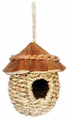 Prevue Pet Products Natural Woven Wood Roof Bird Nest Security & Protection - 1