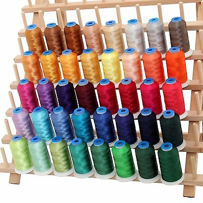 Rayon Machine Embroidery Thread Set B - Big 1000M Cones - 40 Colors - 40Wt