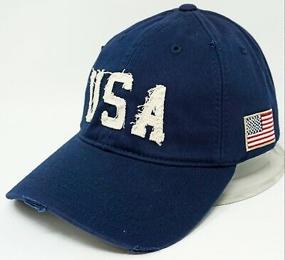 bd96b8dd3b97c USA EST. 1776 Cap Hat U.S. United States American Flag Caps Distressed Hats  NWT
