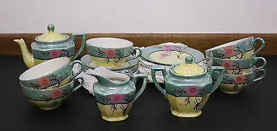 VTG Little Hostess Tea Set Lusterware Porcelain Japan Cherry Blossom 21 Pieces