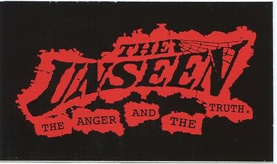 THE UNSEEN the anger and the truth STICKER **Free Shipping** -punk bumper window