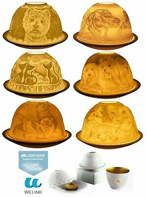 Welink Light-Glow Tealight Candle Holder, Cats, Dogs, Westie or Yorkies