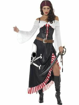 Fancy Dress Smiffys Ladies Sultry Swashbuckler Pirate Sexy Buccaneer Sizes 8-18