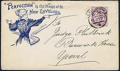 1897 The Perfection Envelope all over design - Perfection ! Ex Shaida