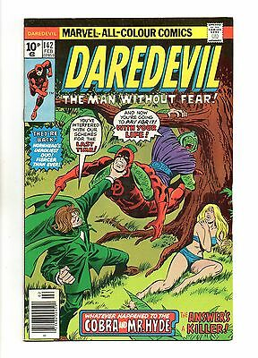 Daredevil Vol 1 No 142 Feb 1977 (VFN+) Marvel Comics, Bronze Age (1970 - 1979)