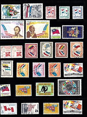 FLAGS Thematic Stamp Collection MINT USED Ref:TH284