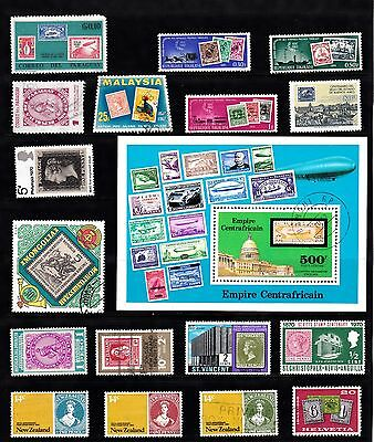 STAMP on STAMP Thematic STAMP COLLECTION Mint Used REF:TH278