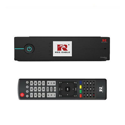 Red Eagle TwinBox Full HDTV Linux E2 Sat Receiver 1080p OpenATV LCD Schwarz HDMI