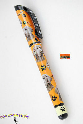 Weimaraner Dog Gel Replaceable Writing Pen Ballpoint Black Ink
