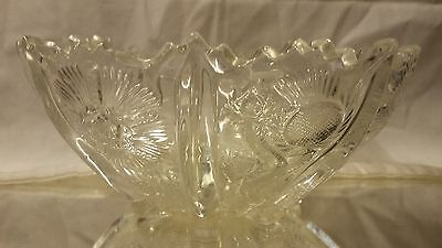 L G Wright Higbee Paneled Thistle 8 inch Bowl
