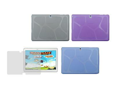 "TPU Skin Cover Case and Screen Protector for Samsung Galaxy Note 10.1"" SM-P600"