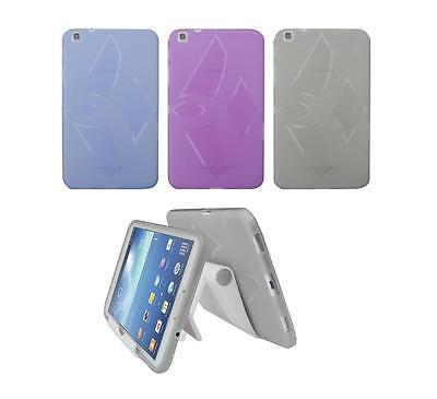 """View Stand Holder + TPU Gel Skin Case Cover for Samsung Galaxy Tab 3 8"""" SM-T310"""