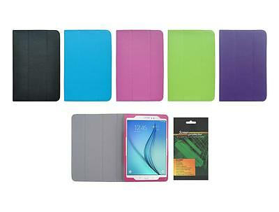 """Folio Skin Cover Case and Screen Protector for Samsung Galaxy Tab A 9.7"""" SM-T550"""