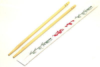 "(140 Pairs) Chinese Bamboo Chopsticks Disposable 9"" Wholesale Bulk Restaurant"