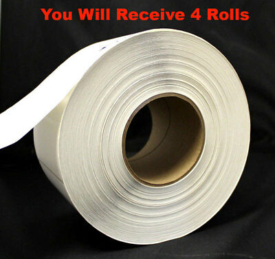 4 Rolls Zebra Direct Thermal Transfer 3 3/4 x 1 3/4 General Purpose Label Ribbon