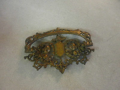 Very Rare Solid Brass Victorian Decorative Drawer Pull