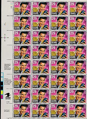 USA 1993 ELVIS PRESLEY 29c Stamp SG2769 Unmounted Mint SHEET of 40 REF:QA883