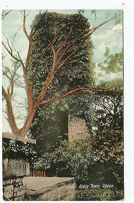 irish postcard ireland cavan the old abbey tower