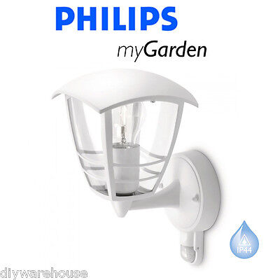 Philips My Garden Creek Wall Up C/w Pir Security White Lantern Light Branded New