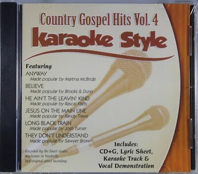 Country Gospel Hits Volume 4 Christian Karaoke Style NEW CD+G Daywind 6 Songs