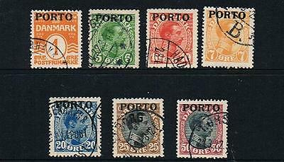 STAMPS Denmark  1921 POSTAGE DUE - Opt. PORTO  1 -7  (FU)  lot A171