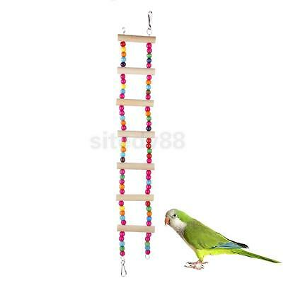 46CM Wooden Bird Swing Ladder Fun Play Cage Toys for Pet Squirrels Parrots