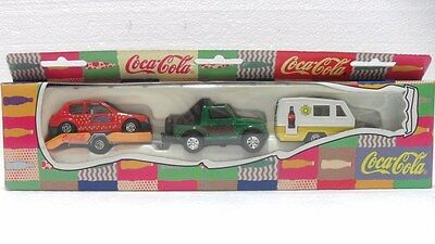 "Coca-Cola - HOLIDAY SET ""JEEP C/RIMORCHIO AUTO o ROULOT - anno 1997"