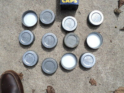 Vintage New Old Stock Box of 12 Ball Zinc Caps