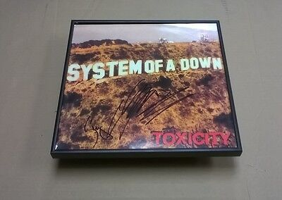 SYSTEM OF A DOWN Band SIGNED + Framed Toxicity Record Album SERJ + SHAVO PROOF