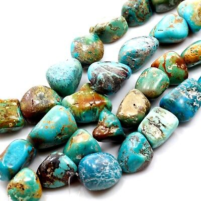 "*28-35mm XL Natural Green Hubei Turquoise Nugget Beads 15"" (TU662)j DIY Jewelry"