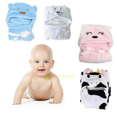 Lovely Animal Cartoon Hooded Bathrobe Soft Infant Baby Boy Girls Bath Towel Wrap